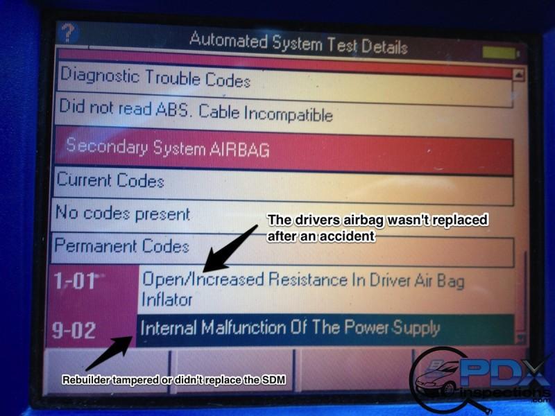 Airbag codes