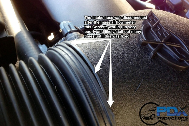 Corvette intake leak