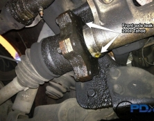 Axle leak