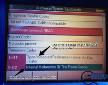 Airbag codes