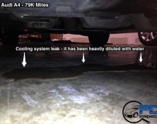 Engine coolant leak