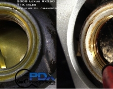 Engine oil sludging comparison