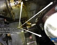 Engine oil leak