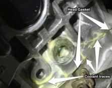 Leaking Subaru head gasket