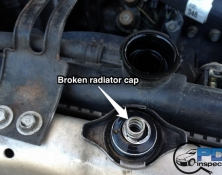 Broken radiator cap