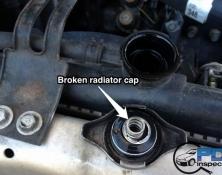 Broken radiator cap