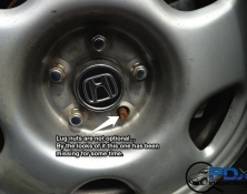 Missing lug nut
