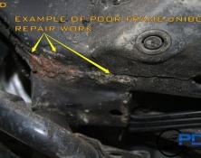 Poor frame welds