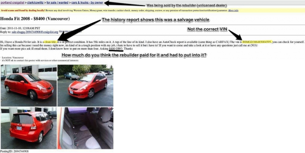 Craigslist car shopping, buyer beware, shop cautiously!