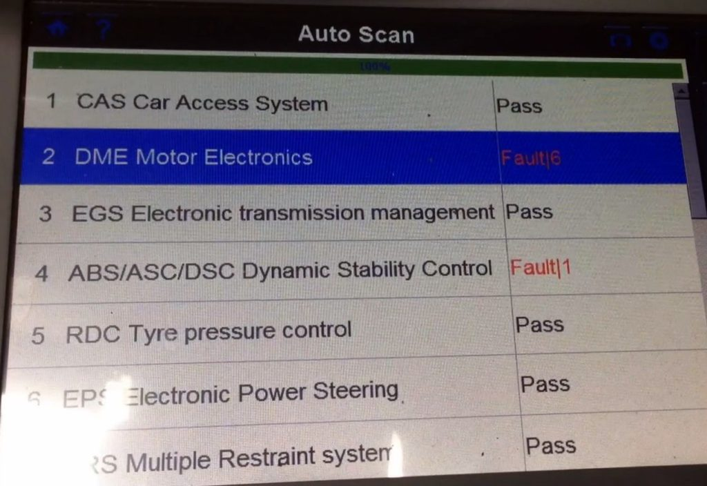 6 Faults - Including misfire codes from the head gasket failure
